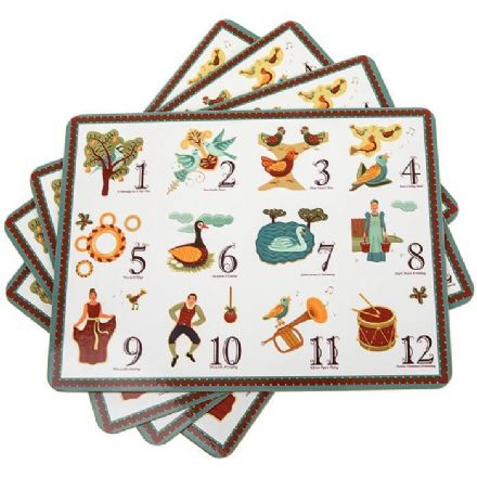 12 Days of Christmas Set of 4 Placemats